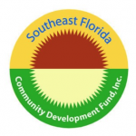 yellow, green, red and tan logo for Southeast Florida Community Development Fund, Inc.