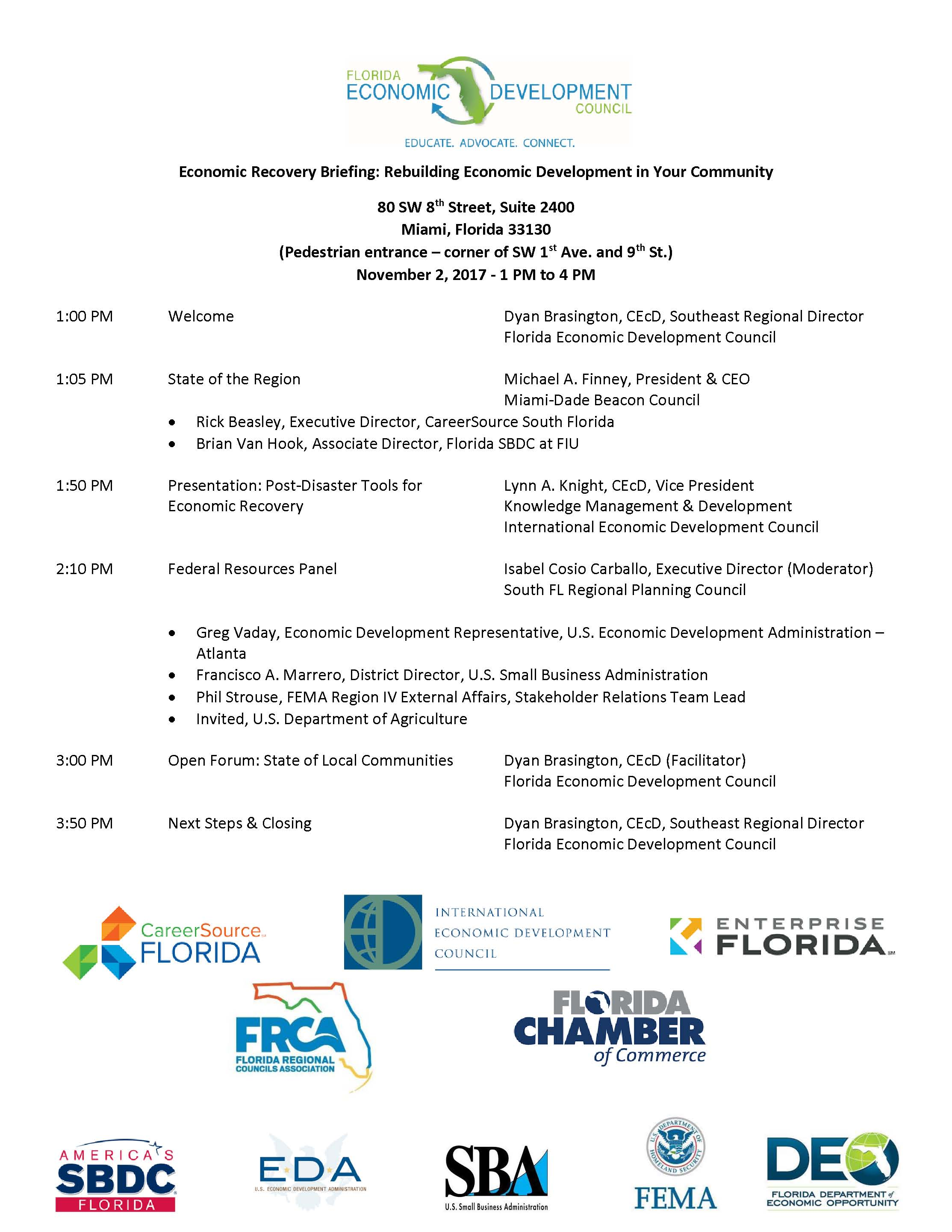 pic for site FEDC Economic Recovery Briefing Agenda_ Nov 2 17 Miami