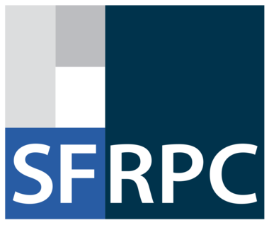 The South Florida Regional Planning Council Logo made up of multicolored squares with text SFRPC beneath