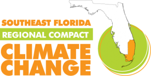 FLorida Regional Climate Change Logo in orange and green letters