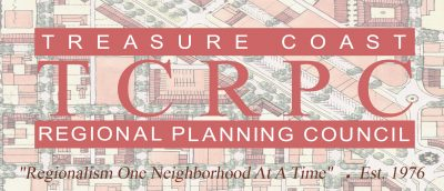 Treasure Coast Regional Planning Council Logo with red letters TCRPC
